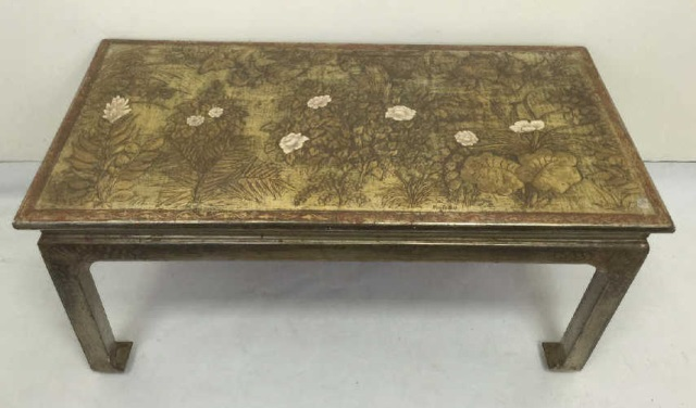 Max Kuehne Polychrome Silver Tone Coffee Table