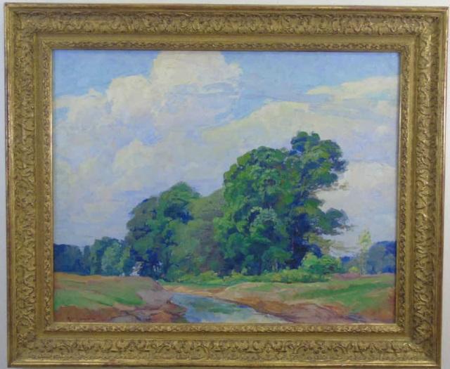 Renouard - Impressionist Landscape Oil Painting