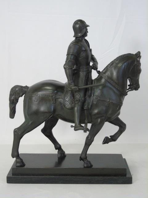 Leon Mignon Bronze Statue of a Knight on Horseback