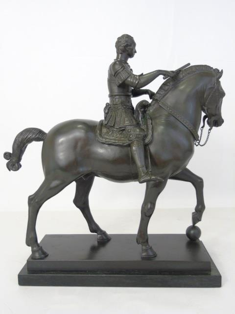 Leon Mignon Bronze Statue of a Man on Horseback