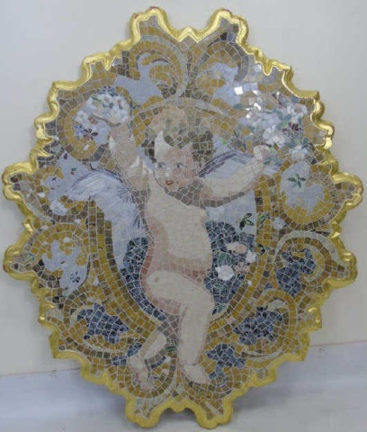 Custom Handmade Mosaic Cupid Wall Art Plaque