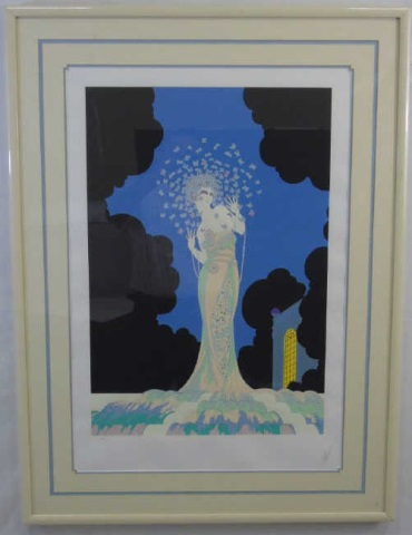 Erte - Pencil Signed & Framed Fantasia Litho