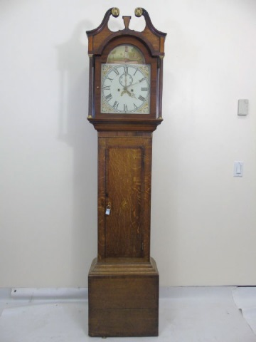 Antique Mahogany Grandfather Tall Case Clock