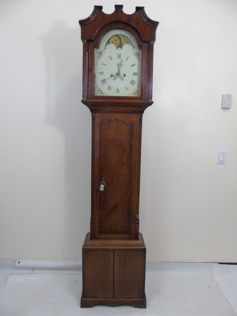 Antique Mahogany Grandfather Tall Case Clock