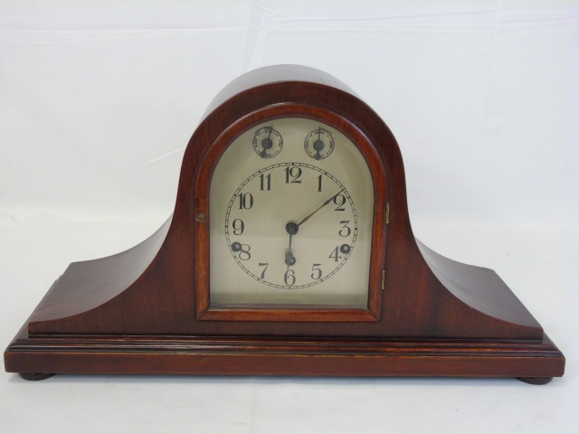 Vintage Mahogany Kienzle German Mantel Clock
