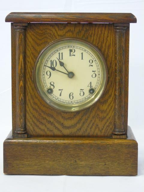 Vintage Oak Mantel Clock by Sessions Clocks of CT