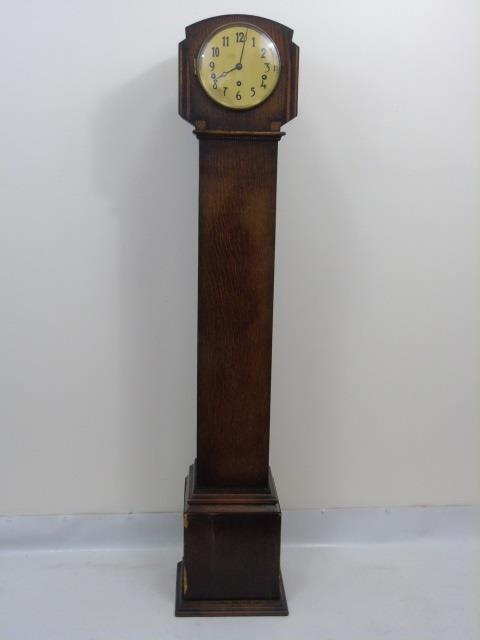 Vintage Oak Grandmother or Dwarf Case Clock