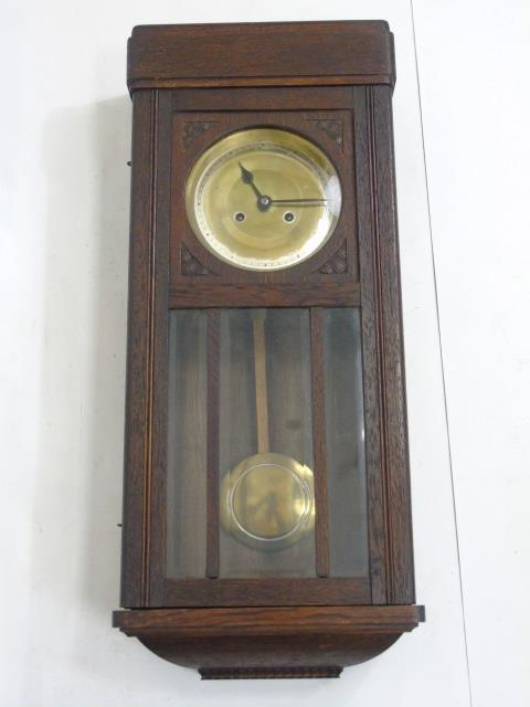 Vintage Mahogany Wall Clock w Seth Thomas Face