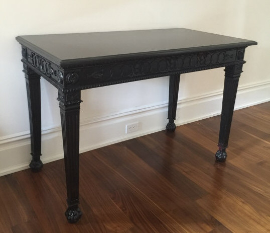 Contemporary Granite Top Georgian Console Table