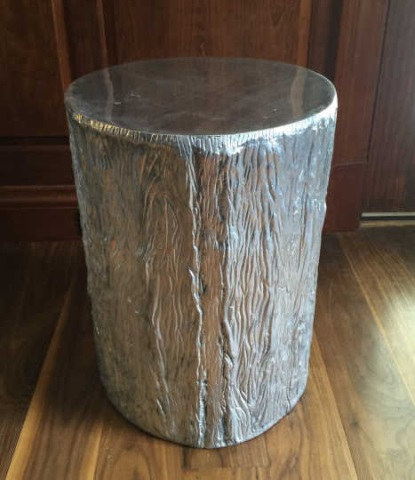Contemporary Modern Tree Trunk Pedestal End Table