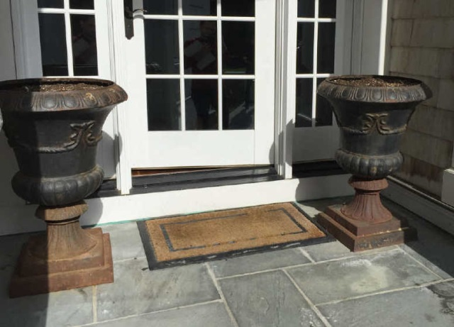Pair Neo Classical Cast Iron Planter Pot / Urns