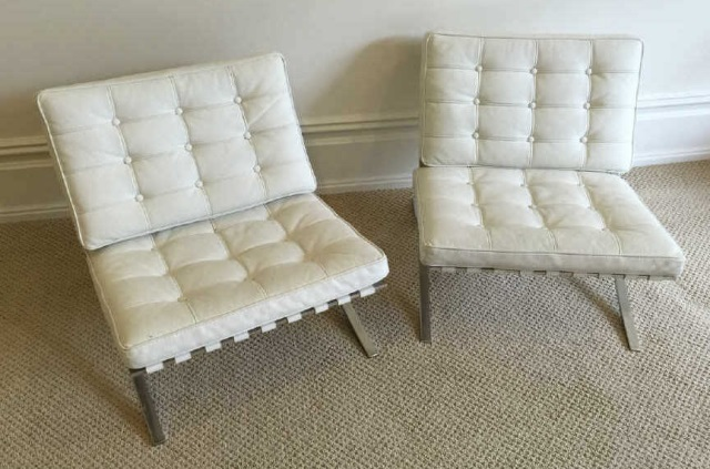 Pair Child Size Mies Van Der Rohe Barcelona Chairs