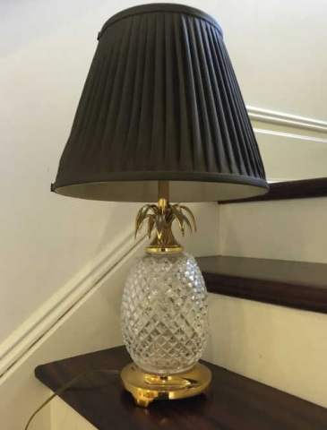 Waterford Crystal Pineapple Table Lamp & Shade