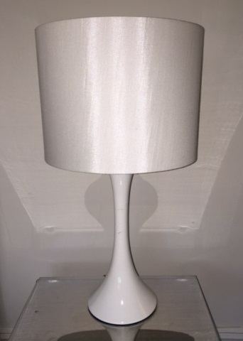 Contemporary Modern White Trumpet Form Table Lamp