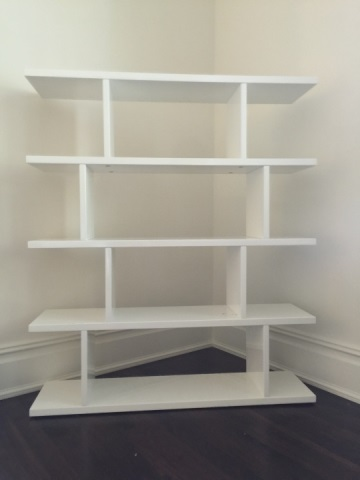 Contemporary Modern White Lacquer Bookcase