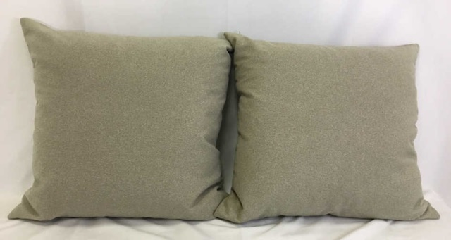 Pair Contemporary Down Filled Custom Pillows
