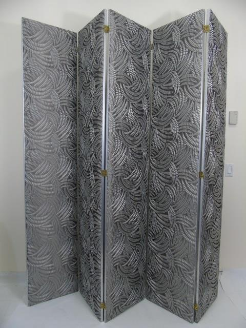 Custom Made Italian Embroidered Silk Room Divider