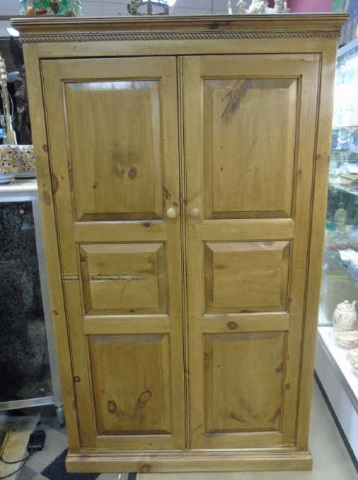 Custom Made Distressed Wood Armoire / TV Hutch