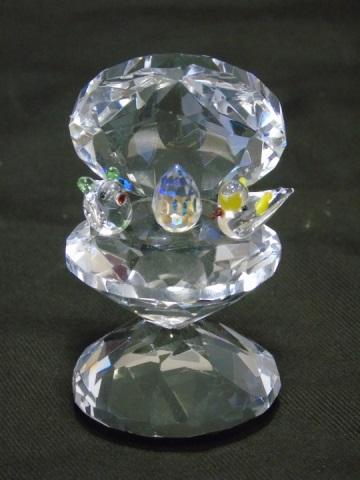 Art Glass Sculpture - Swarovski Style Crystal Birds