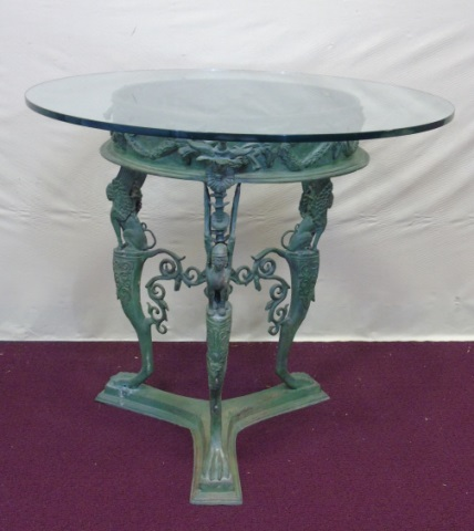 Cast Iron Table Base Gryphon Detail