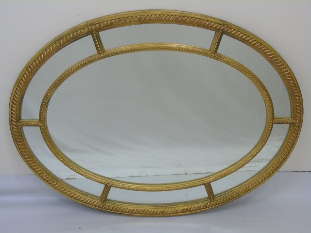 Carvers Guild Oval Rope Motif Gold Leaf Mirror