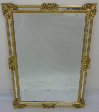 Vintage Italian Hand Carved Gold Leaf Mirror