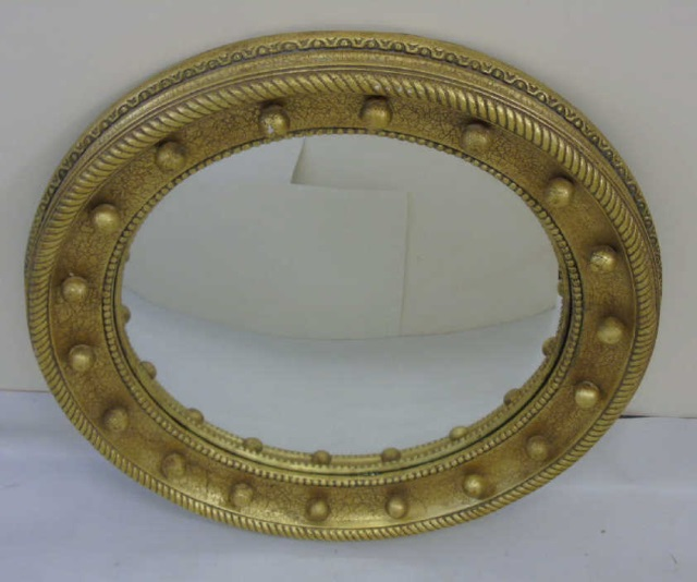 Contemporary Gold Leaf American Empire Mirror