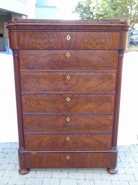 Edwardian Style Mahogany Gentleman's Tall Chest