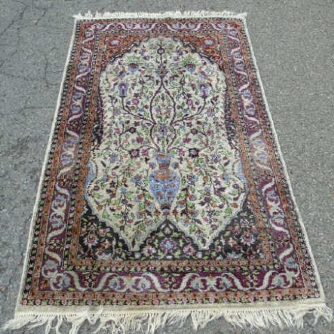 Knotted Wool Blend Persian Style Carpet