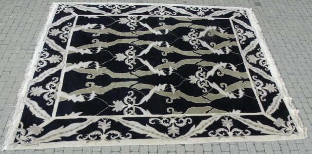 Custom Contemporary Modern Hand Knotted Carpet