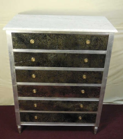 Maison Jansen Mirrored 6 Drawer Dresser