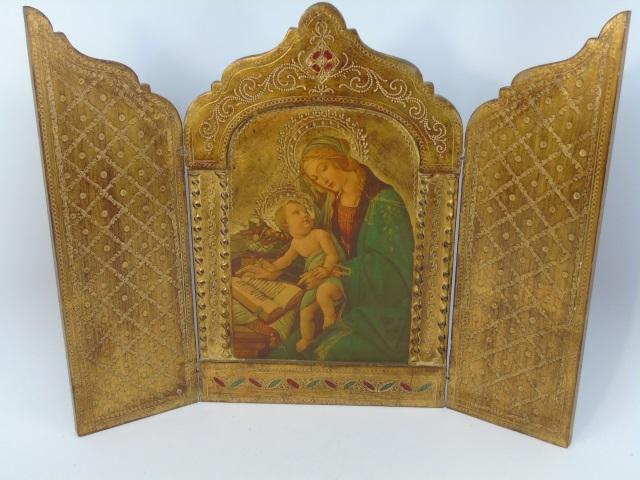 Italian Florentine Painting Madonna & Child