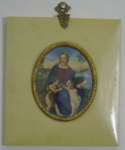 Antique Continental Religious Portrait Miniature