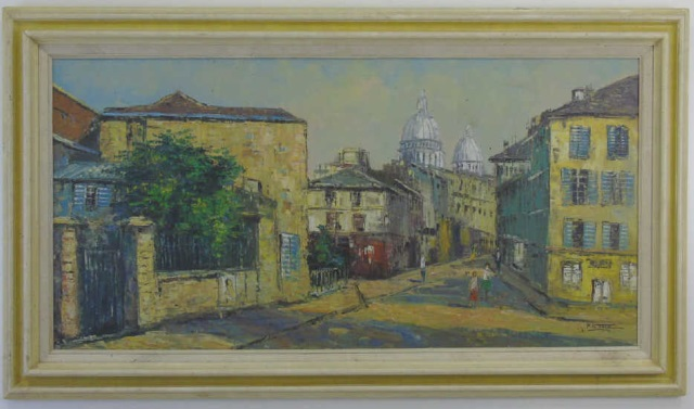P G Tiele - Mid Century Italian Painting on Canvas