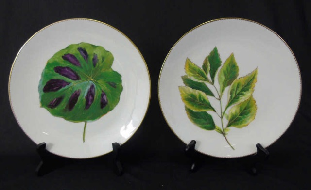 Antique Hand Painted Mintons Botanical Plates