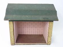 Antique 19th C Handmade Dollhouse Room Box