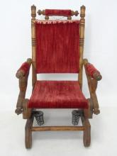 Antique 19th C Salesman Sample / Doll Size Chair