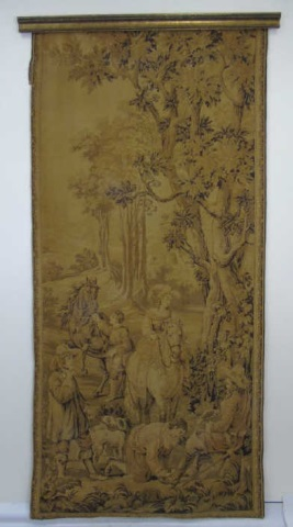 Large Antique Belgian Flemish Style Wall Tapestry