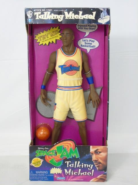 Vintage Michael Jordan Space Jam Toy in Box Talks