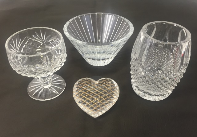 Vintage Cut Crystal Table Items Waterford Irish