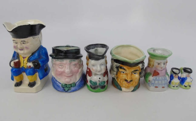 Group of Vintage Toby Jugs, Seated Toby Jugs Minis