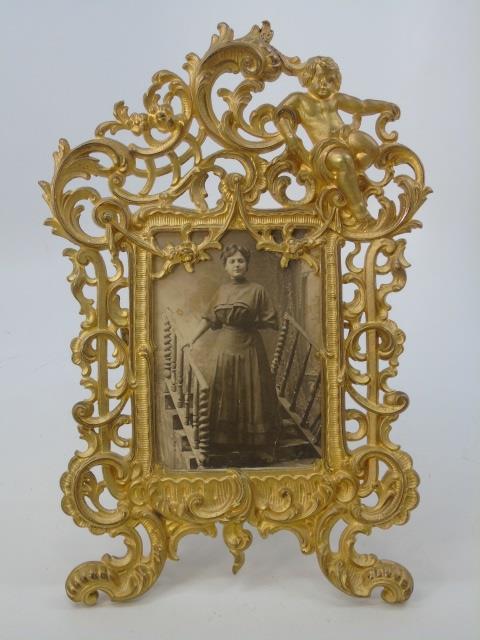 Antique Gilt Ormolu Figural Victorian Frame