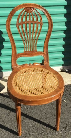 Whimsical Hot Air Balloon Form Carved Side Chair