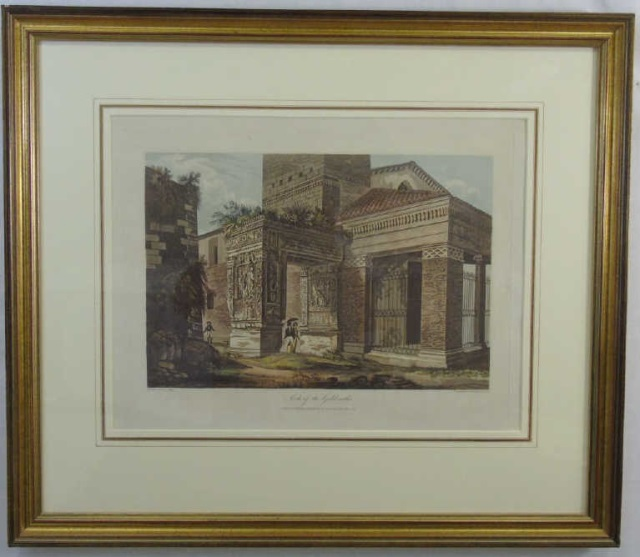Antique Arch of the Goldsmiths Engraving c 1820