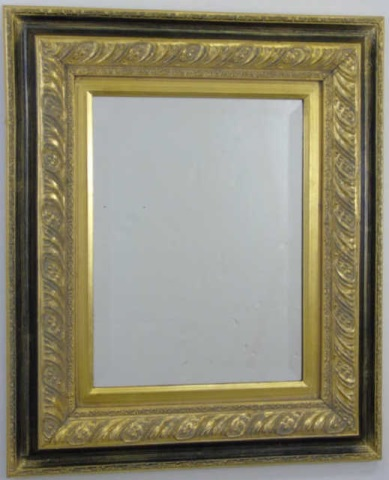 Contemporary Black & Gold Framed Mirror