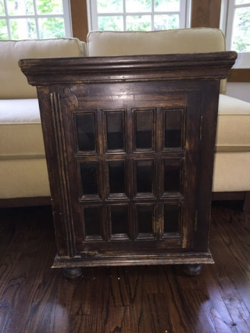Paned Glass Front Bookcase / Curio Cabinet