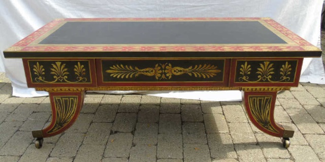 Contemporary Painted Greek Revival Cocktail Table