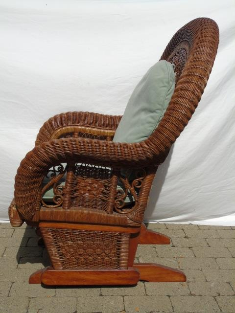 Vintage Victorian Style Wicker Glider Chair