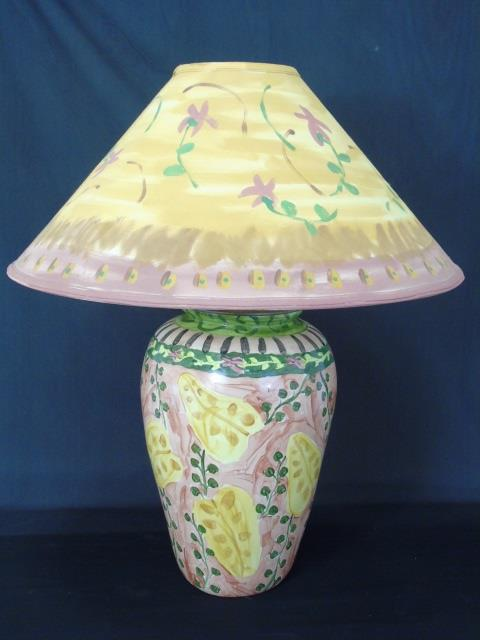 MacKenzie Childs Style Hand Painted Porcelain Lamp