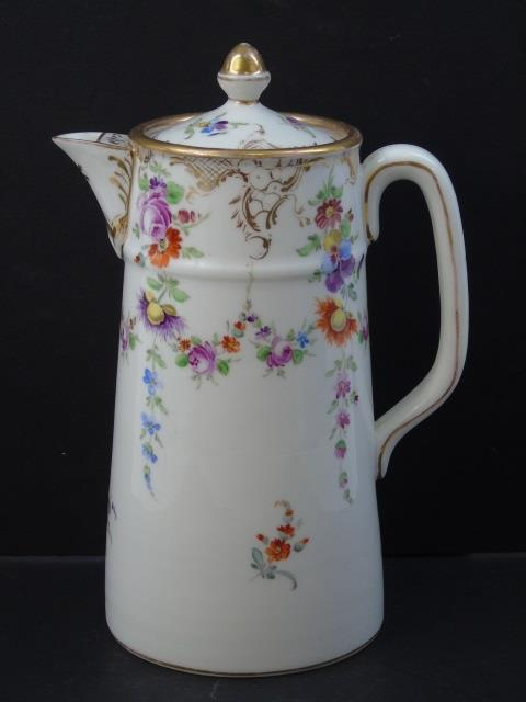 Antique Dresden German Porcelain Chocolate Pot